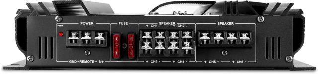 Auna Black Line 500 Equipo de Sonido HiFi subwoofer etapa de potencia y altavoces para Coche