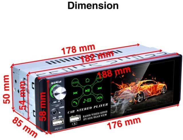 radio para coche compacta TOYOUSONIC 0.81