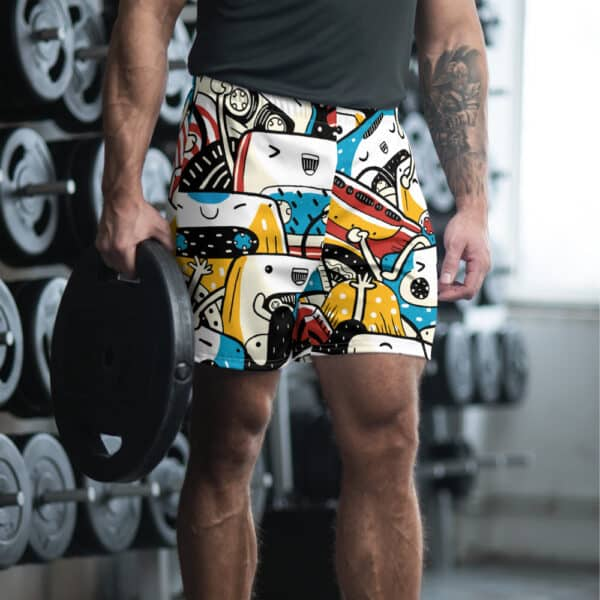 all over print mens athletic long shorts white front 606f7364d7cee