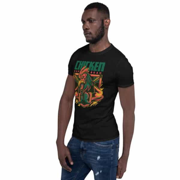 unisex basic softstyle t shirt black left front 606cbac24ec47