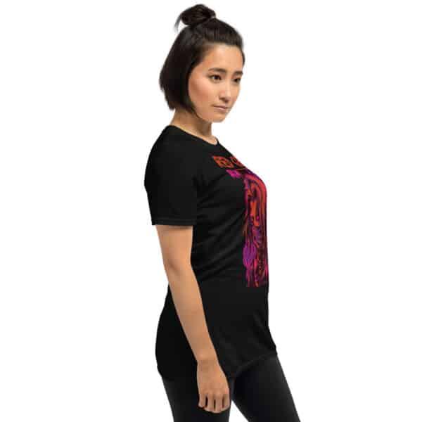 unisex basic softstyle t shirt black right front 606b6c6fb14f3