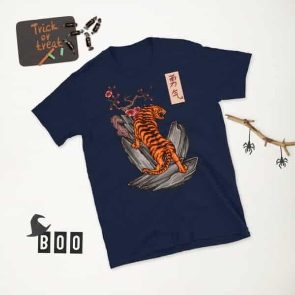 unisex basic softstyle t shirt navy front 2 608c46152078b
