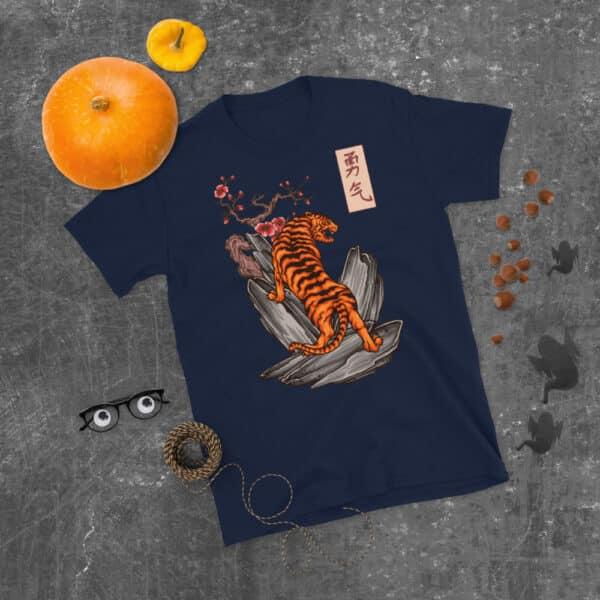 unisex basic softstyle t shirt navy front 608c461520434