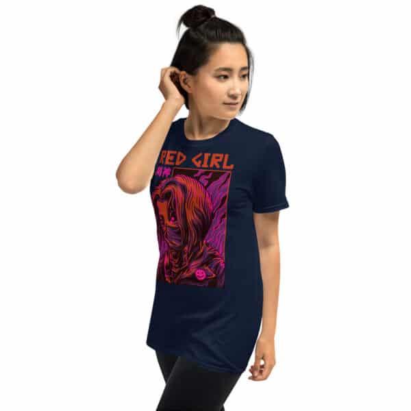 unisex basic softstyle t shirt navy left front 606b6c6fb12c8